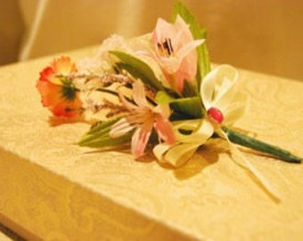 artificial flower corsage
