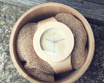 Paul Ven Women Wooden Watch - Victoria White, LightStrap, wood watch, women watch, dress watch, personalised watch, wood watch, wood watch