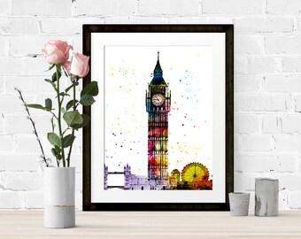 Watercolour London Print