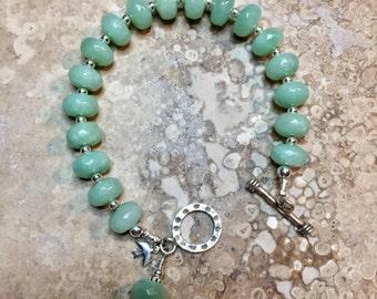 Softest Shades of Green Jade Bracelet