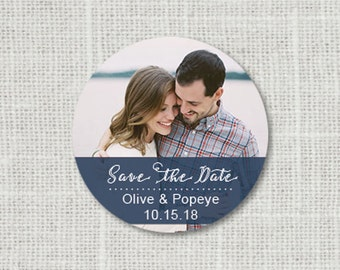 Photo Save the Date Wedding Stickers - Save the Date Wedding Envelope Seals, Picture Wedding Stickers