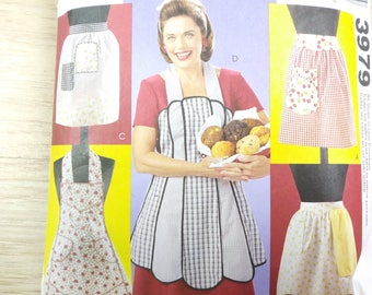 McCall's American Hostess sewing pattern #3979 vintage style women's apron sizes 8-22