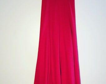 Full Length Wool skirt  Red Vintage skirt