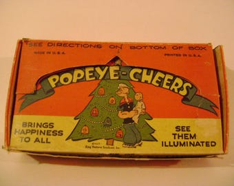 Vintage Popeye Plastic Light Covers