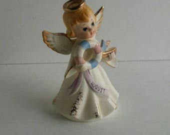 Vintage Lefton August Birthday Angel