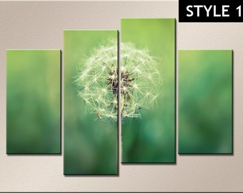 Green nature 4 Panel Canvas