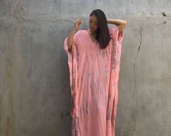 Hand Dyed Very Long Kaftan simple Dress, stylish, Elegant, Miami,lbiza,Holiday Dress,summer party dress,loose fit,Vacation,Sharon dress,
