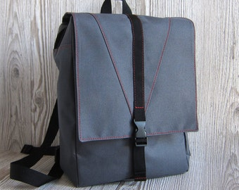 Backpack,  Charcoal grey laptop backpack, Backpack Purse, Women's rucksack, City hipster backpack, Waterproof backpack, Vegan, Padded
