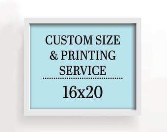 16x20 art print - custom printing services