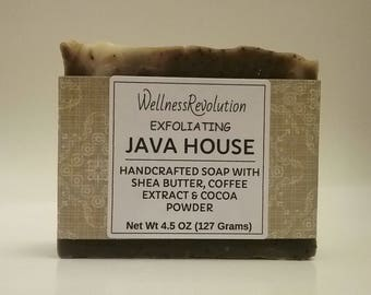 Coffee Soap, Exfoliating Soap, Natural Soap, Vegan Soap, Scrub Soap, Unscented Soap, Shea Butter Soap, Cold Process Soap, Cocoa Butter Soap