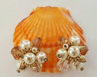 VENDOME Pearl & Crystal Earrings