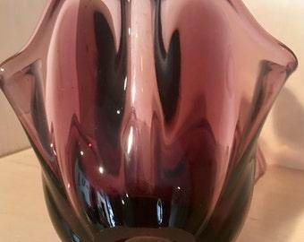 Vintage Purple / Plum Vase