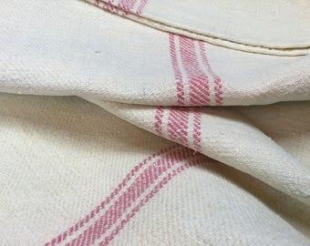 Vintage hemp and cotton grain sack, former grain hemp/cotton bag.