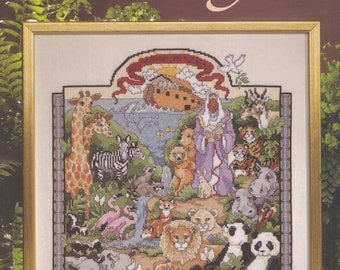 Noah's Ark, American School of Needlework Religious Counted Cross Stitch Pattern Booklet 3706 NEW