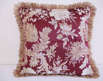 "Cushion Queen Classics Luxury Fringes Cushion Cover,20""x 20"""