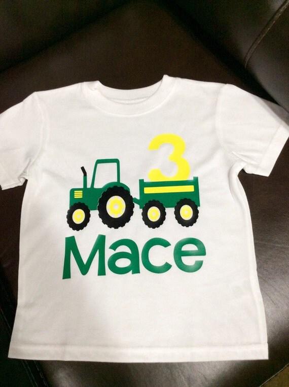Boy S John Deere Birthday Shirt Tractor Birthday Shirt