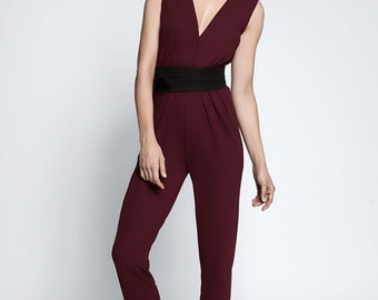 A Gorgeous 80's inspired Jumpsuit - 100% silk jersey