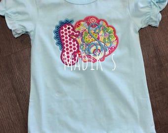Seahorse Applique Shirt, Seahorse Shirt, Seahorse with monogram shirt,