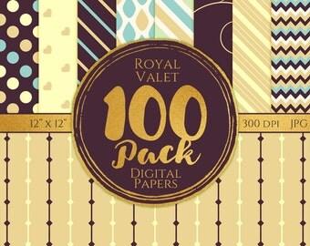 Digital Paper 100 Pack - Royal Valet - Commercial Use