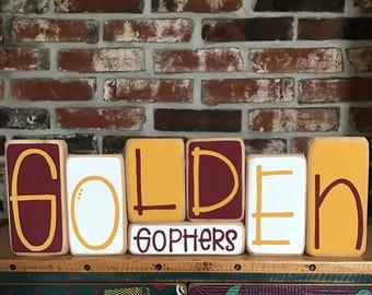 University of Minnesota Golden Gophers Decor Blocks