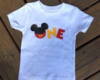 Mickey One Custom Shirt/ Add Name