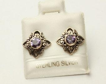 Amethyst Post Earrings, Dolphin Earrings, Moon Stars, Sand Dollars in Sterling Silver Stud Earrings