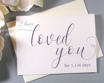 PERSONALIZED SHIMMER CARD, I Have Loved You Card, To My Groom Card, To My Bride Card, Groom Card from Bride, Bride Card from Groom