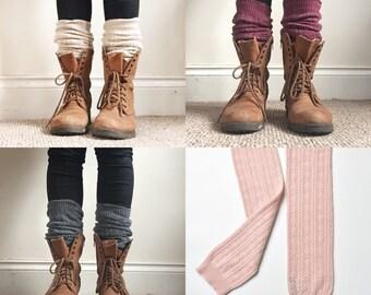 PIPPA LEG WARMERS - leg warmers - knee high socks - long leg warmers - spring - gift for woman - boho boot - knit leg warmer -