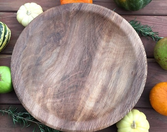 Shallow Wooden Bowl Made from White Oak