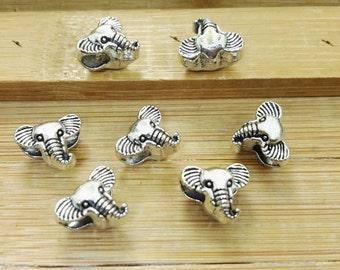 30 PCS  Elephant Beads ,Antique silver  Elephant Head  Beads,Elephant jewelry,spiritual meditation Jewelry,Wholesale