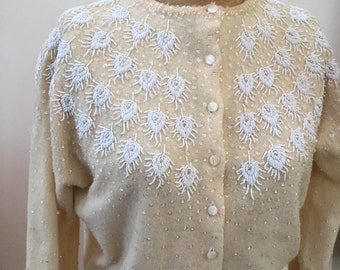 Vintage Beaded Cashmere Sweater