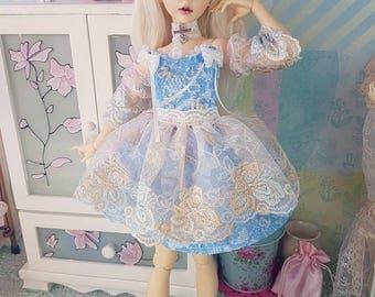 MNF baby blue laced dress set for minifee slim msd
