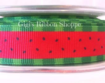 "1 yd. 7/8"" Watermelon Grosgrain Ribbon | High Quality Ribbon"