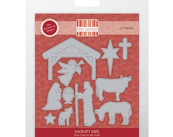 First Edition Build A Scene Christmas Nativity Die 11 Piece