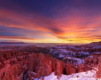 Landscape Photography, Nature Photography, Sunrise Photography, Fine Art Photography, National Park Photo, Bryce Canyon Photo, Utah Photo