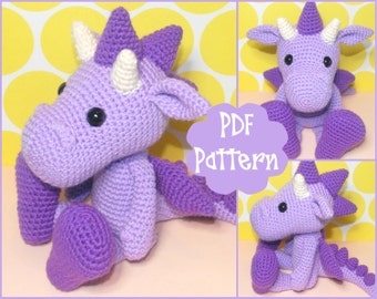 PDF - Dragon Crochet Pattern, Dragon Amigurumi, Amigurumi Pattern, Dragon Plush, Dragon Plushie, Dragon Toy, Crochet Toy, Amigurumi Tutorial