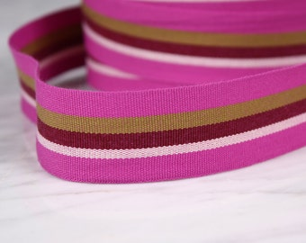 31mm, polyester, mauve and other tape, 3 m (4788)