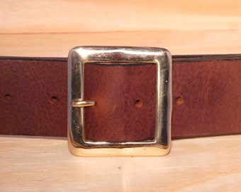 Brass Square 2 Inch Buckle with no belt strap