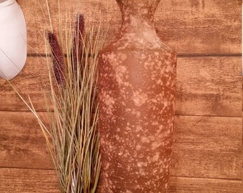 "Vintage Large  Art glass ""stone"" effect Bottle  Floor Vase"