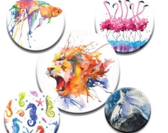 A pack of 5 watercolour splash art Pattern weights Ideal for weighing down patterns on delicate fabrics no need for pins TV sewing Bee
