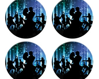 A pack of 4 couple dancing in the moonlight Pattern weights Ideal for weighing down patterns on delicate fabrics no need for pins