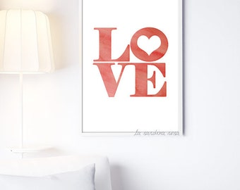 Love Wall Art, Love Print, Love Wall Decor, Bedroom Art, Love Poster