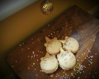 Unicorn Macarons - Unicorn Macaroons - French unicorn Macarons - unicorn gift - unicorn cake - gift for unicorn lover - macaron gift