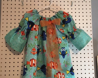 Finding Dory long sleeve girls 2T dress