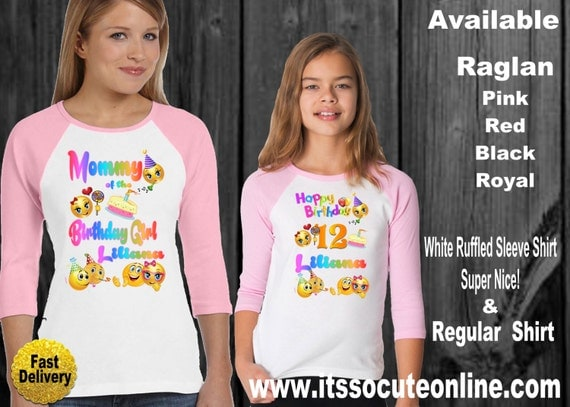 Adorable Emoji Mother Daughter Birthday Shirts