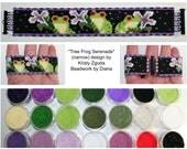 Tree Frog Serenade -narrow- by Kristy Zgoda beaded bracelet kit (pattern sold separately)