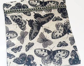 Butterfly bag and pouch set, Market Shopper and Purse, Butterfly purse, Butterfly Market Shopper, Medium tote bag, lined handmade tote bag