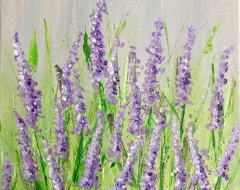 Lavender fields. Lavender field painting.