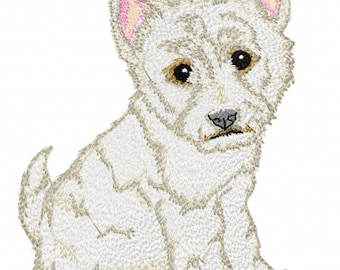 WEST HIGHLAND TERRIER - Machine Embroidery Design