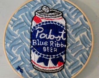 PBR Can Embroidery Art